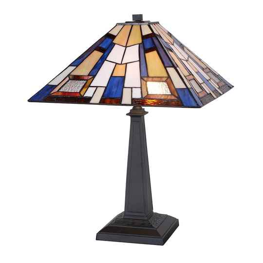A TIFFANY STYLE TABLE LAMP - DSTF-118