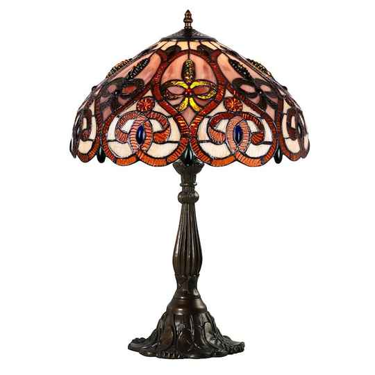A TIFFANY STYLE TABLE LAMP - DSTF-112