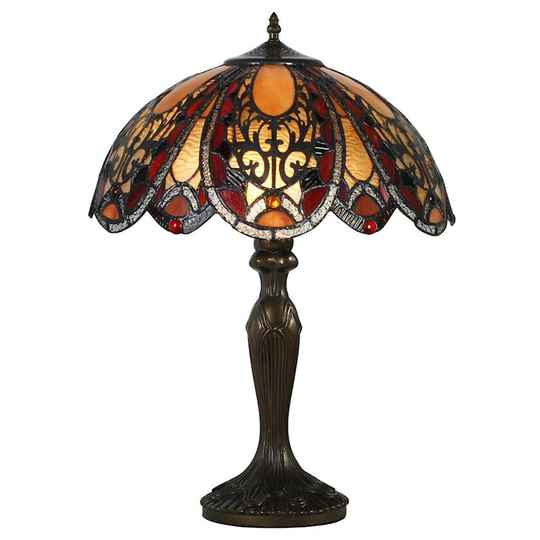 A TIFFANY STYLE TABLE LAMP - DSTF-111