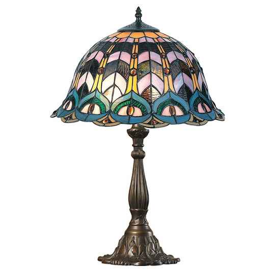 A TIFFANY STYLE TABLE LAMP - DSTF-125