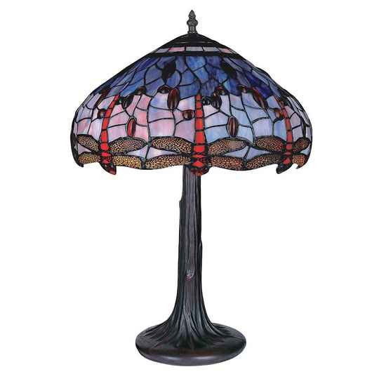 A TIFFANY STYLE TABLE LAMP - DSTF-123