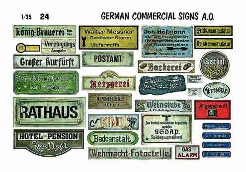 German Commercial Signs VP-24