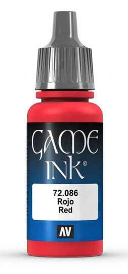 Game Ink Red 17mlVAL72086