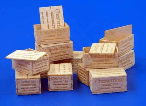 U.S.Wooden crates for cigarettes-WWII.-Type II. PLUS480