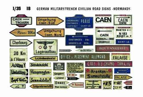 German Military/French Road Signs Normandy VP-18