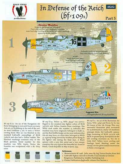 In Defense of the Reich Bf 109 EAGLESTRIKE 48252