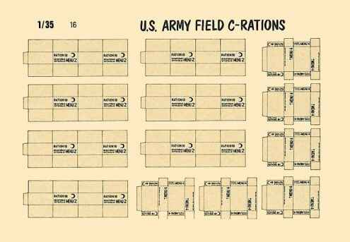 Army Field C-Rations VP-16