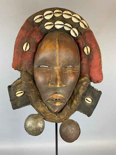 210805 - Tribal Used African Dean Gle Mask from the Dan People - Liberia.