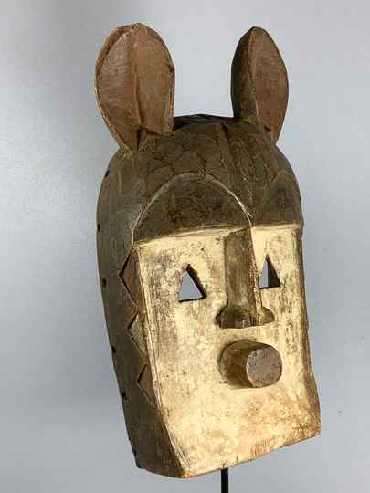 210132 - Old Tribal Used African Dogon Mask - Mali