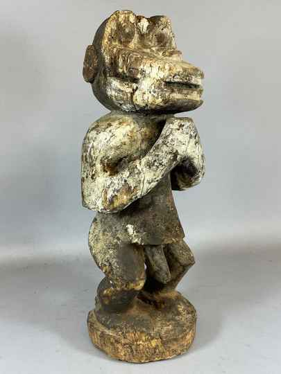 210427 - Old and Rare Tribal used African Old Baule figure - Iv. Coast.