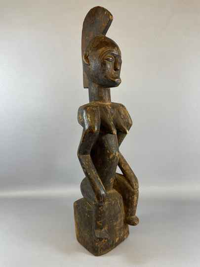 210839 - Old & Tribal used African Fang statue - Gabon.