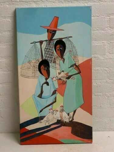 190606 - Ethiopian African Traditional Painting from the Addis - Ethiopia.