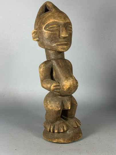 200966 - Tribal used African wooden Luba statue - Congo.