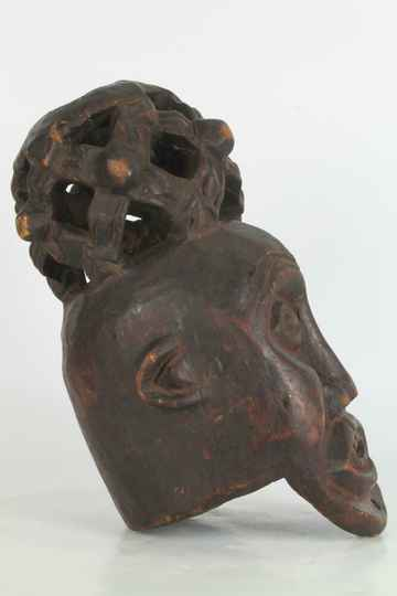 190813 - Old Tribal used African Bamun head mask - Cameroon.