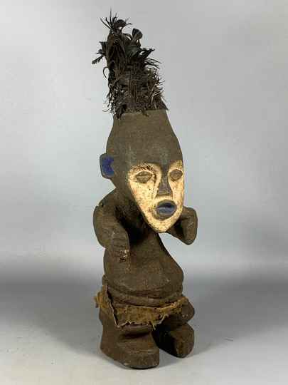 200731 - Old Tribal used African Mambila statue - Cameroon.