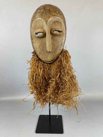 210941- Tribal used African mask from the Lega Bwami - Congo.