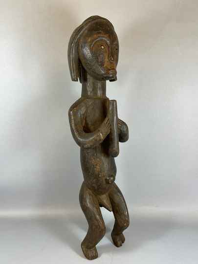 210535 - Old Tribal used African Fang statue - Gabon.