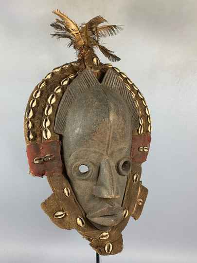 210218 - Old Tribal Used African Dean Gle Mask from the Dan People - Liberia.