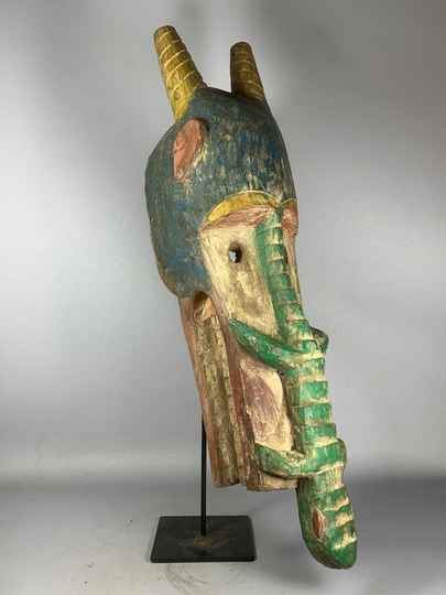 201204 - Rare & Old Tribal used African Mambila mask - Cameroon.