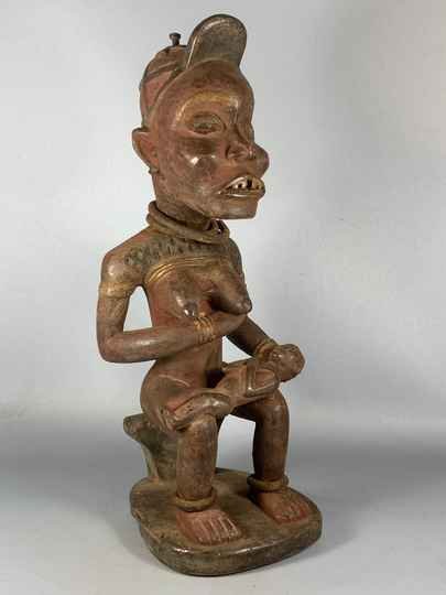 200946 - Antique Tribal used African Yombe statue - Congo.