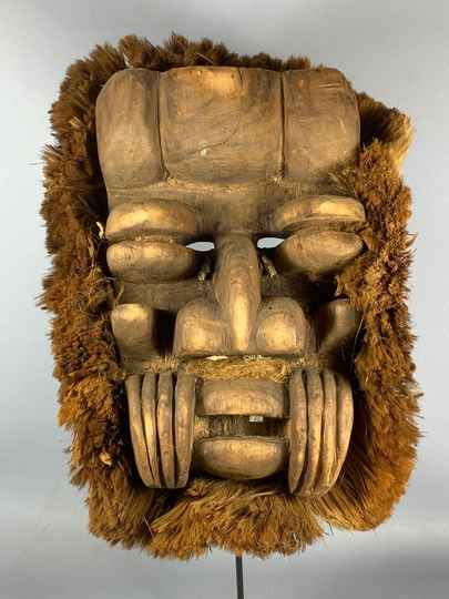 201001 - Old tribal used African We Guere mask - Iv. Coast.
