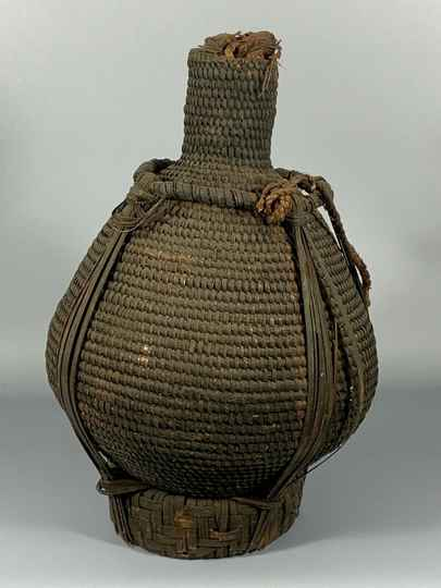 190824 - Old Tribal used African Bamun Jug - Cameroon.