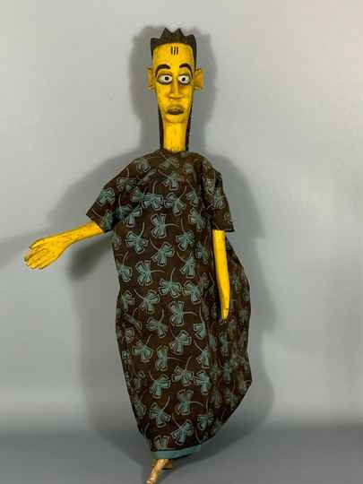 180363 - Large Tribal Used African Bozo puppet marionet - Mali