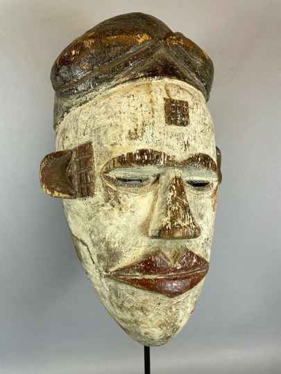 210809 - Rare Old Tribal used mask from the Ogoni - Nigeria.