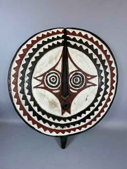 210509 - Tribal Used African Sun Mask from the Mossi - Burkina Faso.