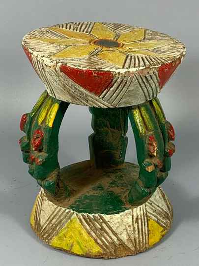 180853 - Old & Tribal used African Dogon stool - Mali.