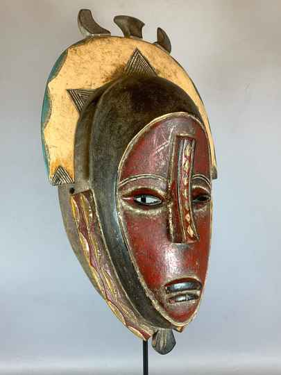 210334 - Old African Tribal used mask from the Guro - Iv. Coast.