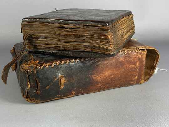 201130 - Old Ethiopian handwritten coptic manuscript with leather bag - Ethiopia
