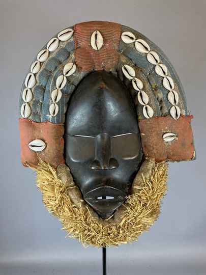 210720 - Tribal Used African Dean Gle Mask from the Dan People - Liberia.