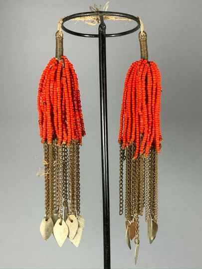 191035 - Tribal used Old African Ethiopian Arussi Beaded Ornament - Ethiopia