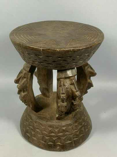 200640 - Old & Tribal used African Dogon stool - Mali.
