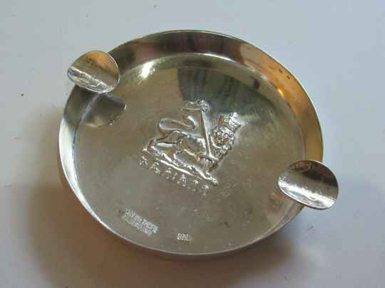 201127 - Antique Ethiopian SILVER ASHTRAY from Bedros Sevadjian - Ethiopia.