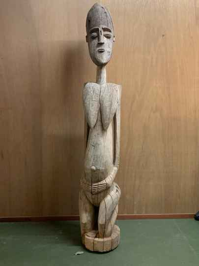 200820 - Rare Old and Large - 176 cm - Tribal used African Dogon Figure - Mali