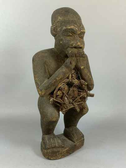 210308 - Old Tribal used African Fetisch Yombe figure - Congo.