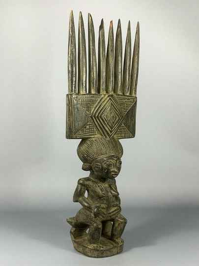180669 - Tribal Used African statue from the Chokwe - Angola.
