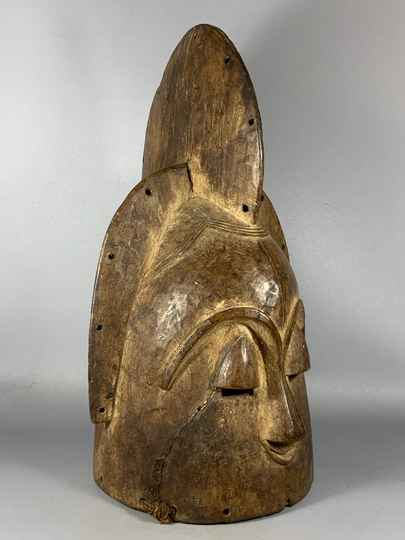 200947 - Old Tribal used African Head Ngontang Mask from the Fang - Gabon.