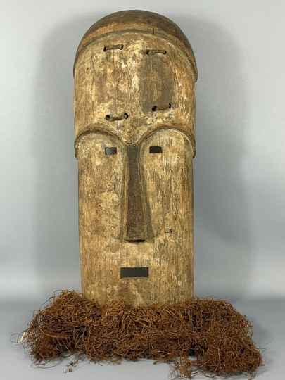 180515 - Large Old & Tribal used African Mask from the Fang - Gabon.