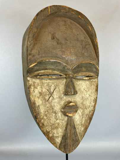 210815 - Old Tribal used African mask from the Lega Bwami - Congo.
