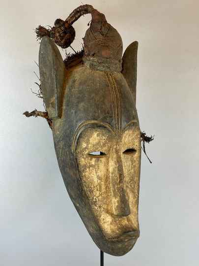 210852 - Old & Tribal used African Fang mask - Gabon.