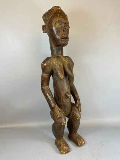 210542 - LARGE Old Tribal used African Bakongo protection statue - Congo.