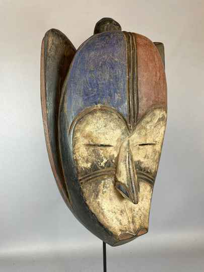 210712 - Tribal used African Fang mask - Gabon.