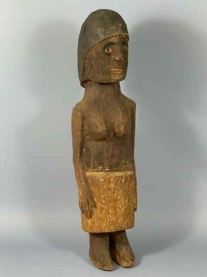 180147 - Old and Rare Tribal Used African Konso Grave figure - Ethiopia.