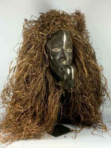 191210 - Old Tribal Used African Bird mask from the Dan People - Iv. Coast.