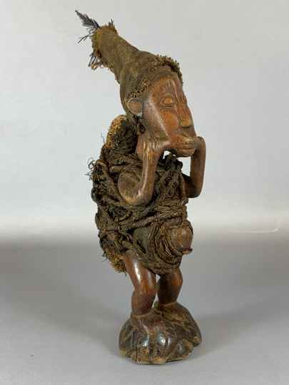 210239 - Old Tribal used African Fetisch Yombe statue - Congo.