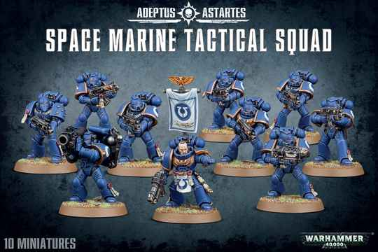 Warhammer 40K - Space Marines Tactical Squad