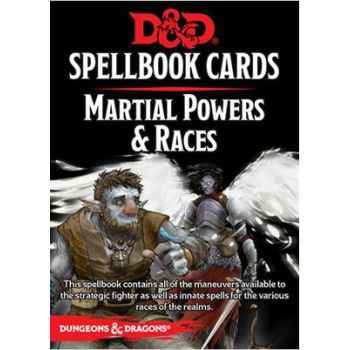 D&D - 5th Ed. - Spellbook Cards - Martial Powers & Races